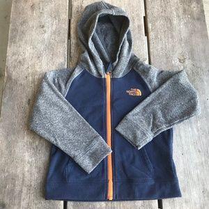 The North Face Navy Blue Orange Fleece Full Zip 3T